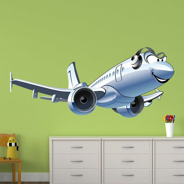 Vinilos Infantiles: Avión comercial
