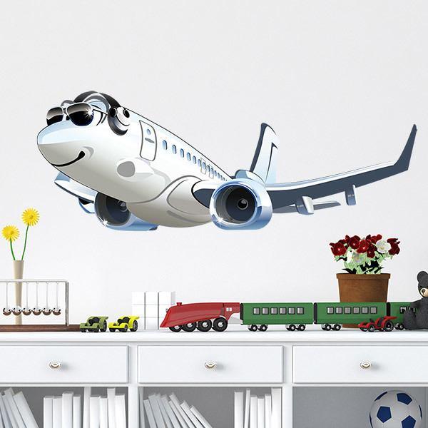 Vinilos Infantiles: Avión comercial 2