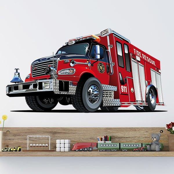 Vinilos Infantiles: Camión de bomberos 5
