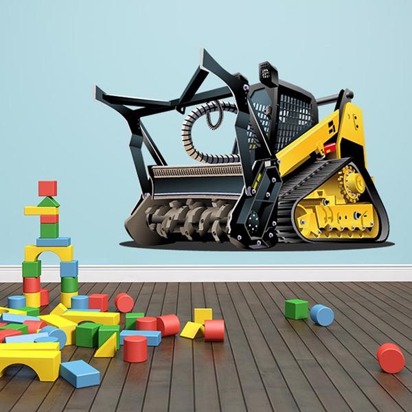 Vinilos Infantiles: Máquina pesada de rodillo