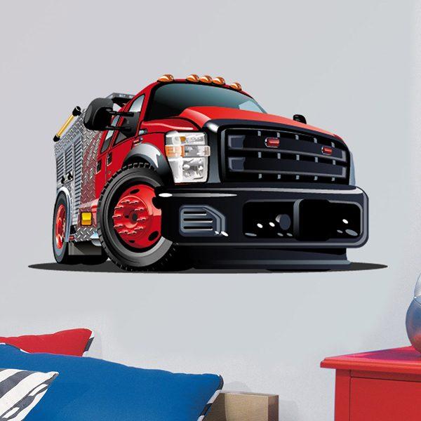 Vinilos Infantiles: Camión rojo