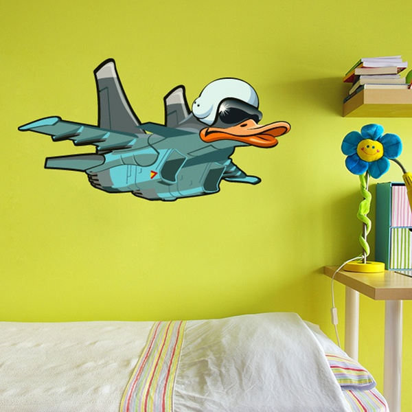 Vinilos Infantiles: Avión con cabeza de pato