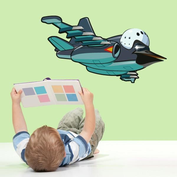 Vinilos Infantiles: Avión con cabeza de pájaro