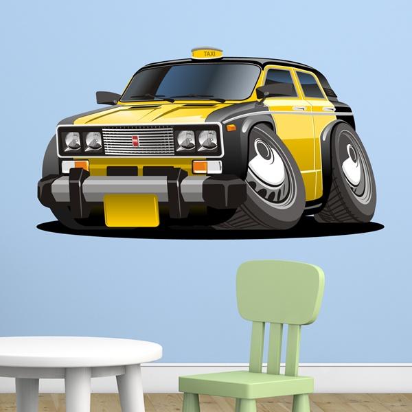 Vinilos Infantiles: Taxi amarillo y negro
