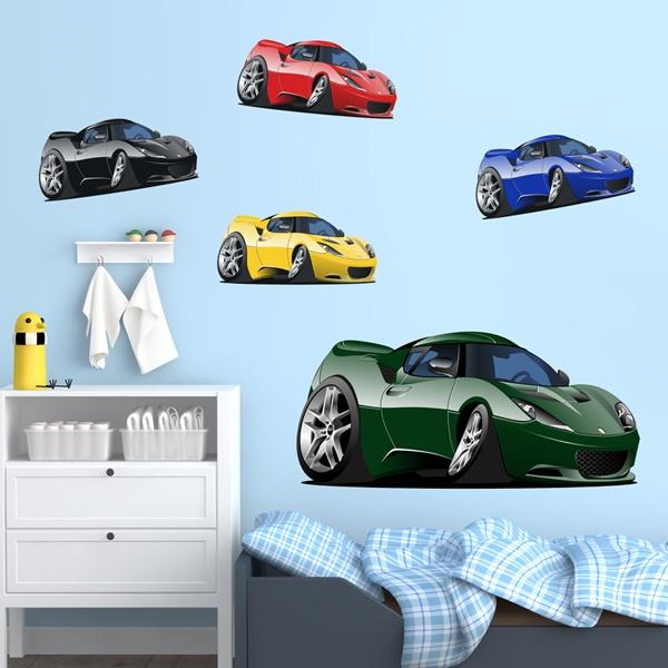 Vinilos Infantiles: Kit de coches deportivos