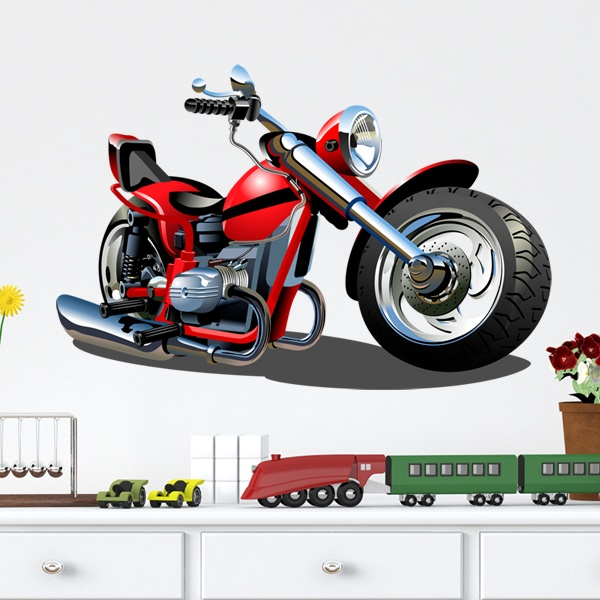 Vinilos Infantiles: Moto Harley 1