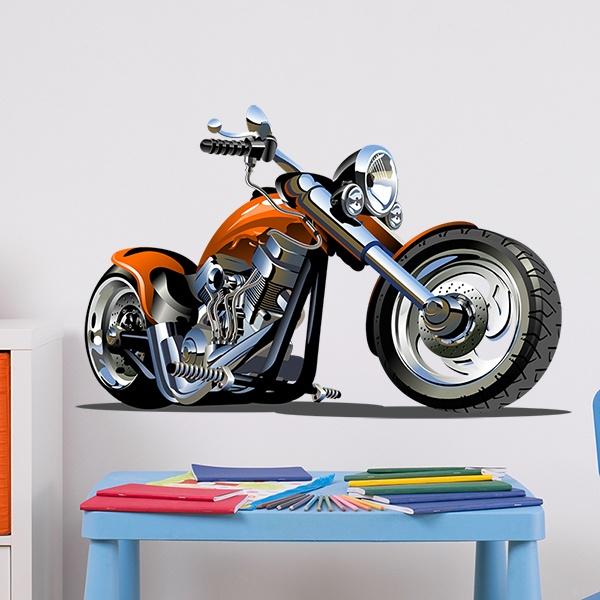 Vinilos Infantiles: Moto Harley 2