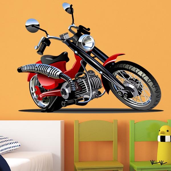 Vinilos Infantiles: Moto Harley 3