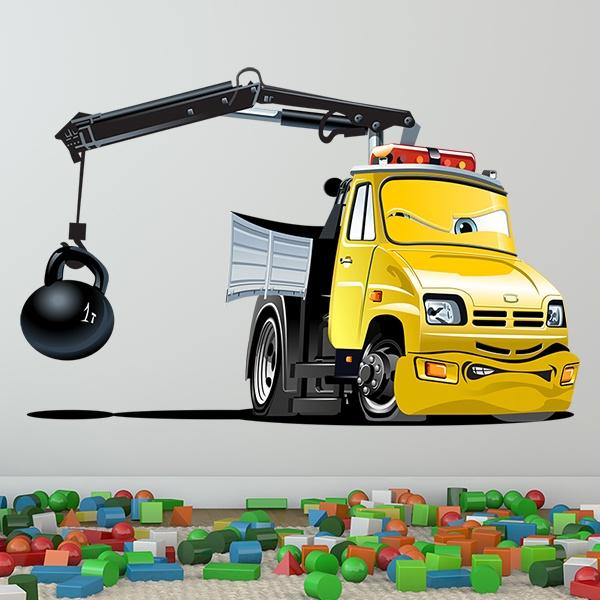 Vinilos Infantiles: Camión grúa bola 1