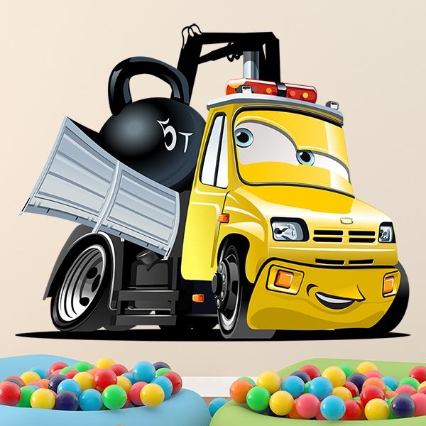 Vinilos Infantiles: Camión grúa bola 2