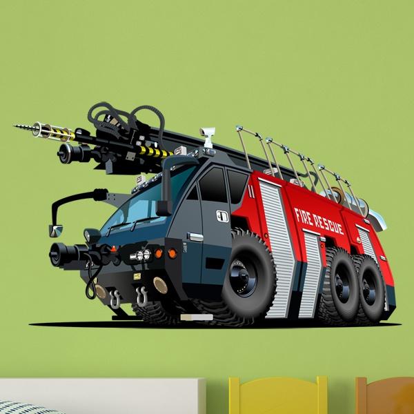 Vinilos Infantiles: Camión bomberos 6