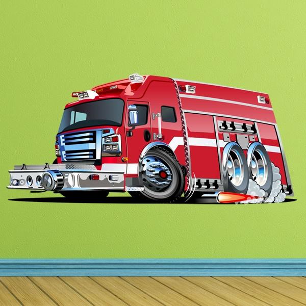 Vinilos Infantiles: Camión bomberos 7