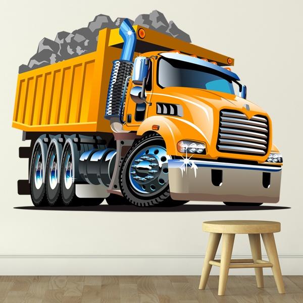 Vinilos Infantiles: Camión de obras