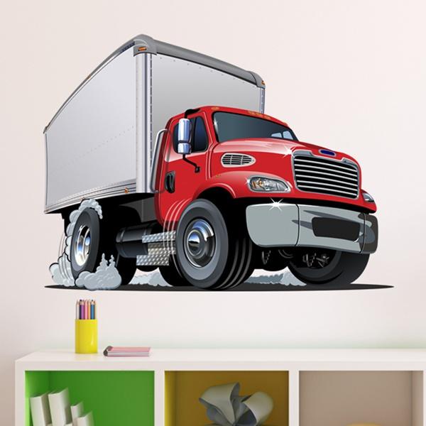 Vinilos Infantiles: Camión de transporte
