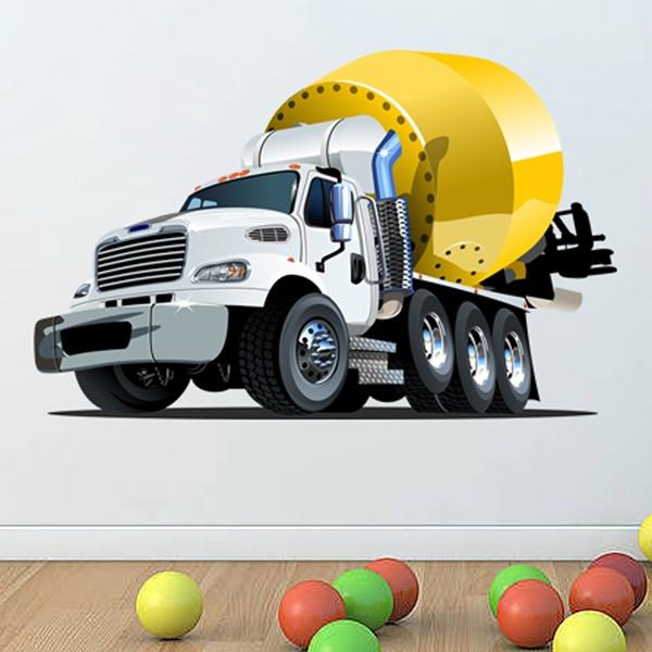 Vinilos Infantiles: Camión con tanque de hormigón