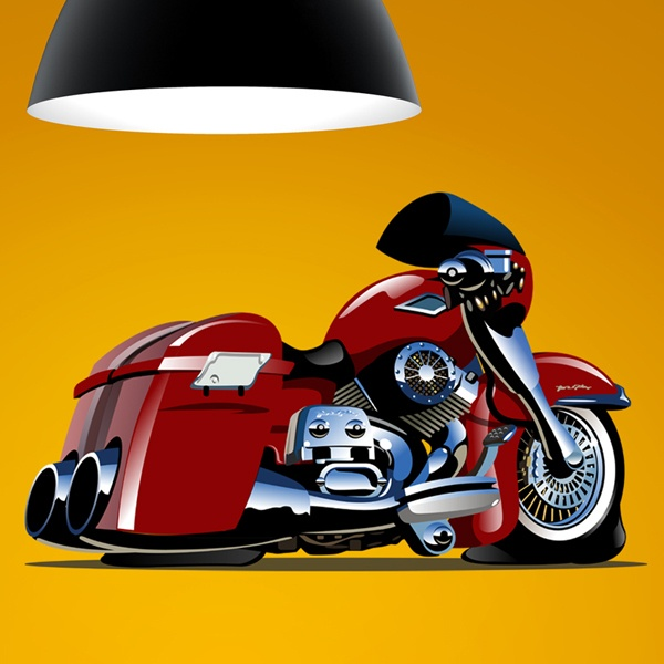Vinilos Infantiles: Moto Tunning