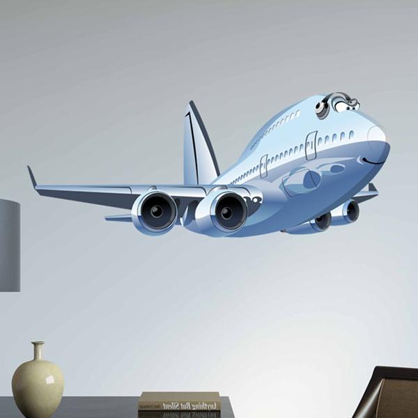 Vinilos Infantiles: Avión comercial 3