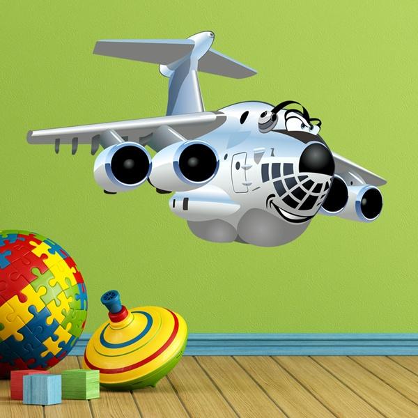 Vinilos Infantiles: Avión de transportes pesados