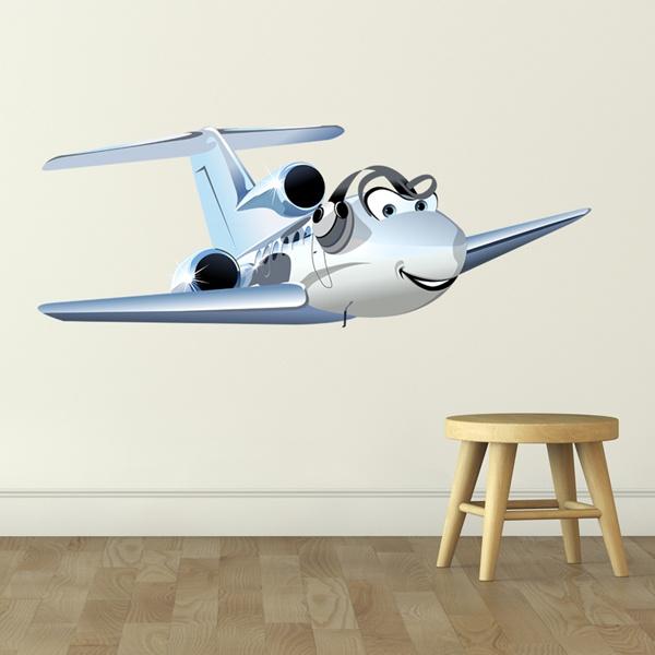 Vinilos Infantiles: Avión ultraligero