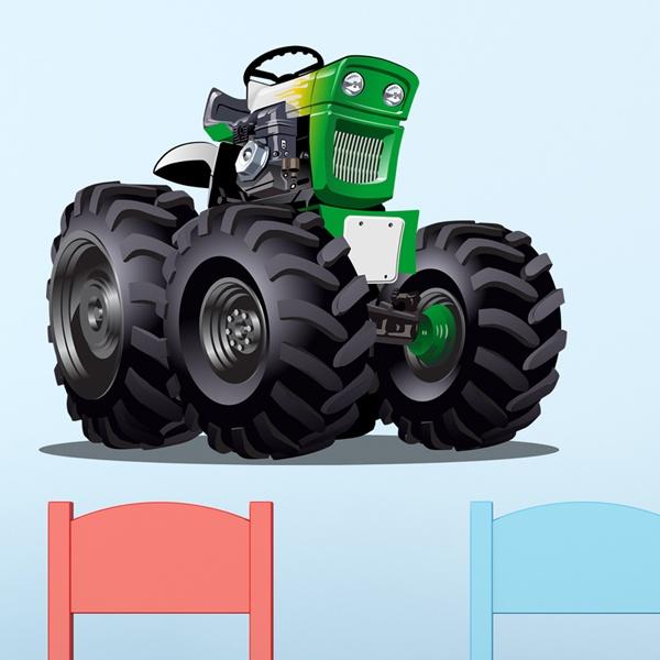 Vinilos Infantiles: Monster Truck 25