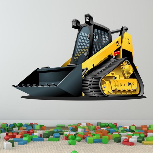 Vinilos Infantiles: Excavadora 2