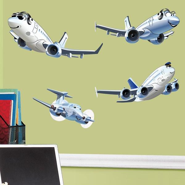 Vinilos Infantiles: Kit de aviones de pasajeros