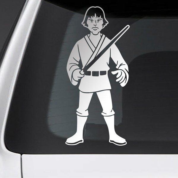 Pegatinas: Padre Luke Skywalker