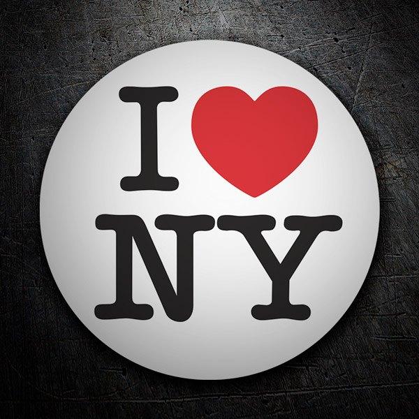 Pegatinas: I love NY (New York)