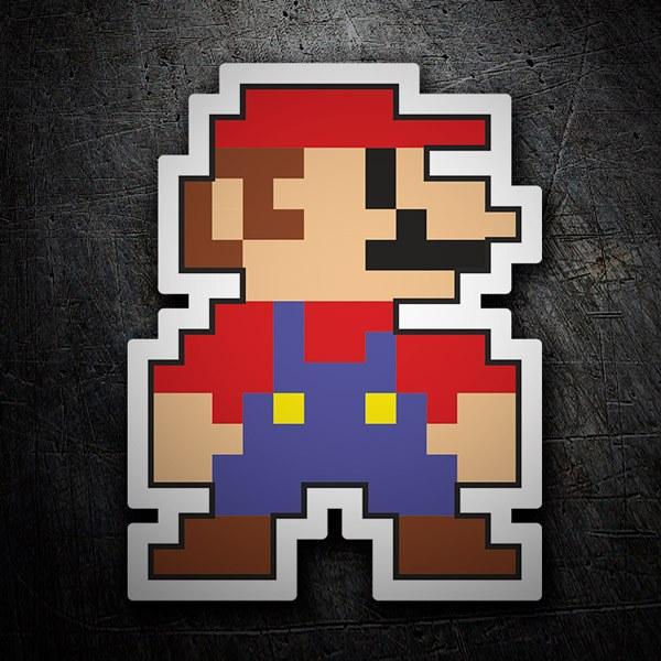 Pegatinas: Mario Bros Pixel