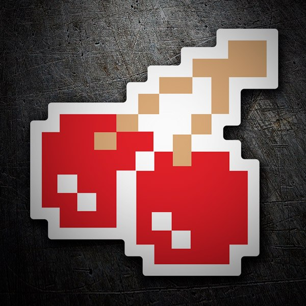 Pegatinas: Cerezas Pixel Pac-Man
