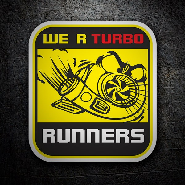 Pegatinas: We are Turbo Runners