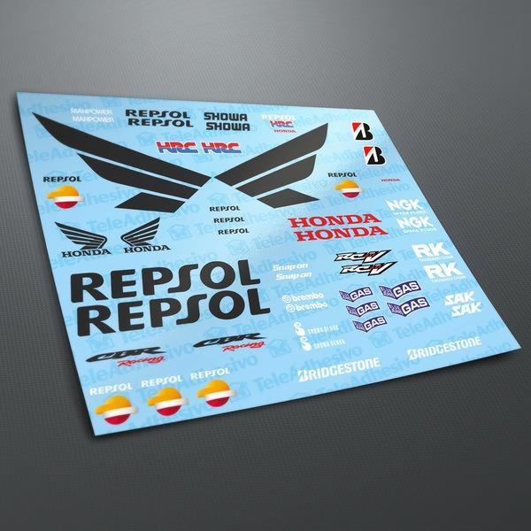 Pegatinas: Kit Honda CBR Repsol Racing