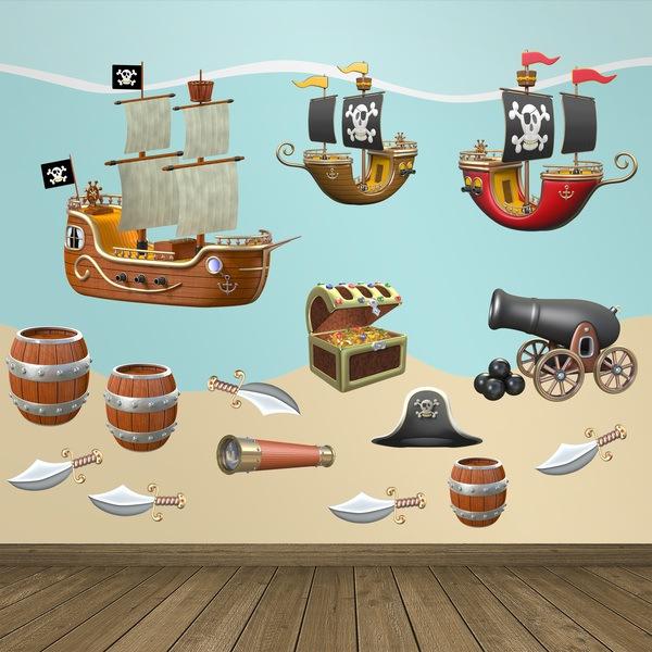 Vinilos Infantiles: Kit Adhesivos Pirata