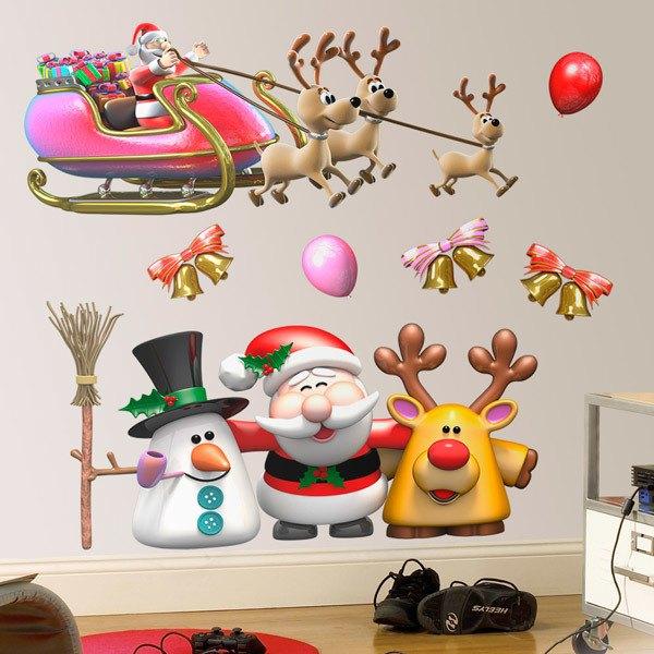 Vinilos Decorativos: Kit de Navidad Papá Noel