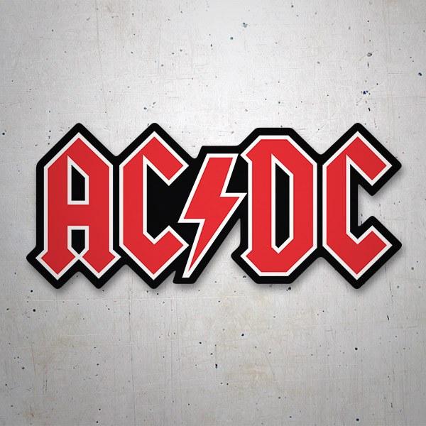 Pegatinas: Pegatina AC/DC