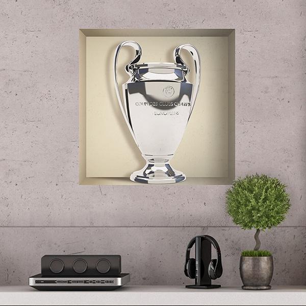 Vinilos Decorativos: Nicho Trofeo Liga de Campeones