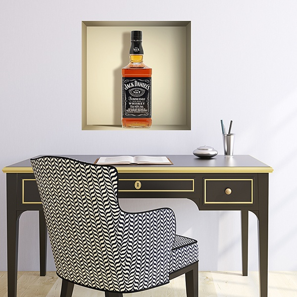 Vinilos Decorativos: Nicho botella de Jack Daniels