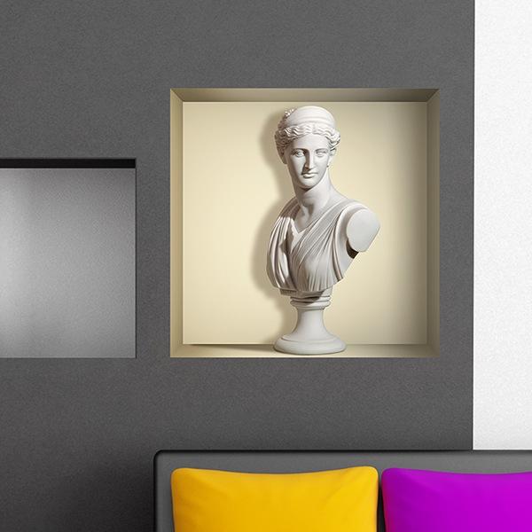 Vinilos Decorativos: Nicho Estatua antigua de mármol