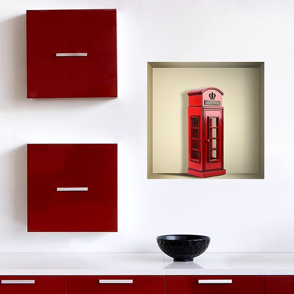 Vinilos Decorativos: Nicho Cabina telefónica londinense