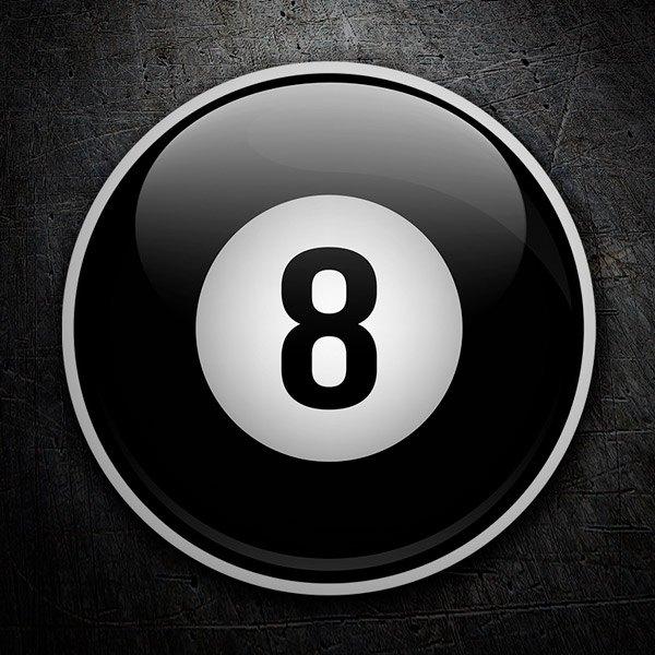 Pegatinas: bola 8