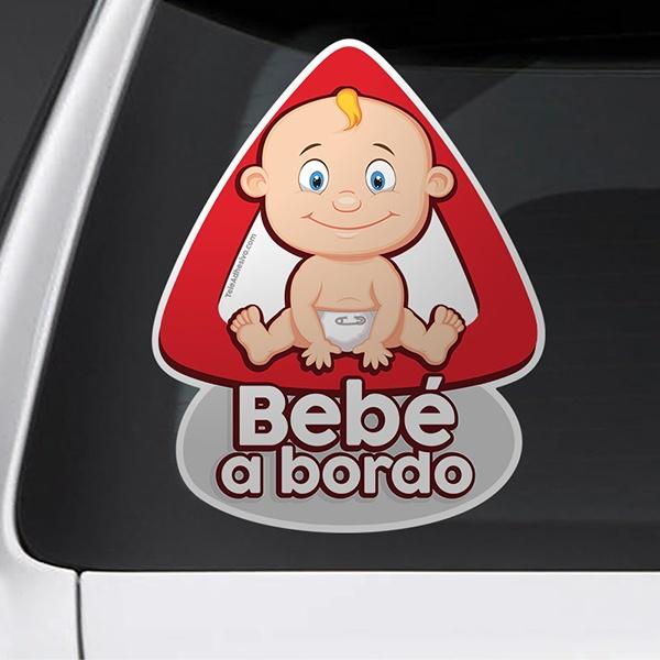 Pegatinas: Bebé a bordo en español