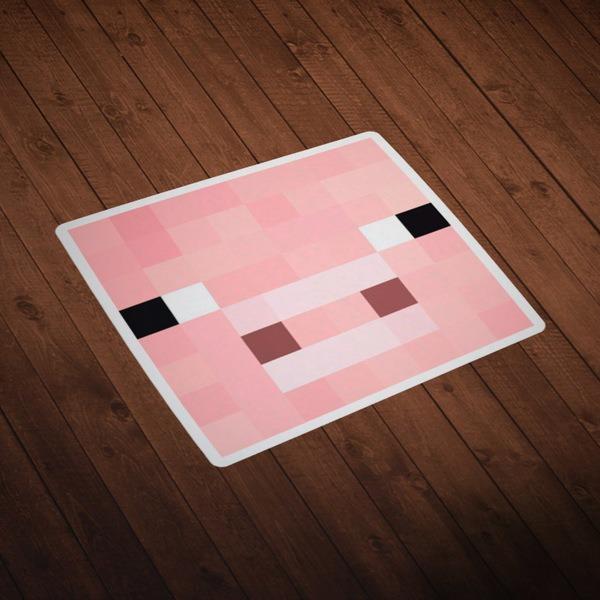 Vinilos Decorativos: Skin cabeza Minecraft 2