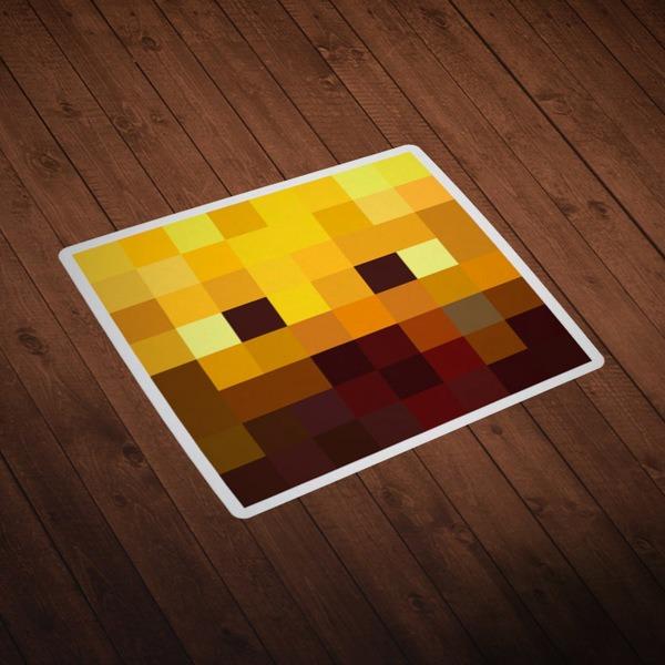 Vinilos Decorativos: Skin cabeza Minecraft 3