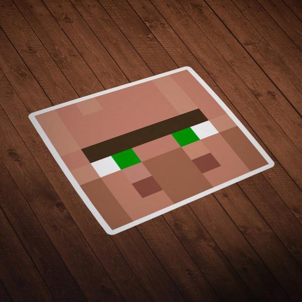 Vinilos Decorativos: Skin cabeza Minecraft 4