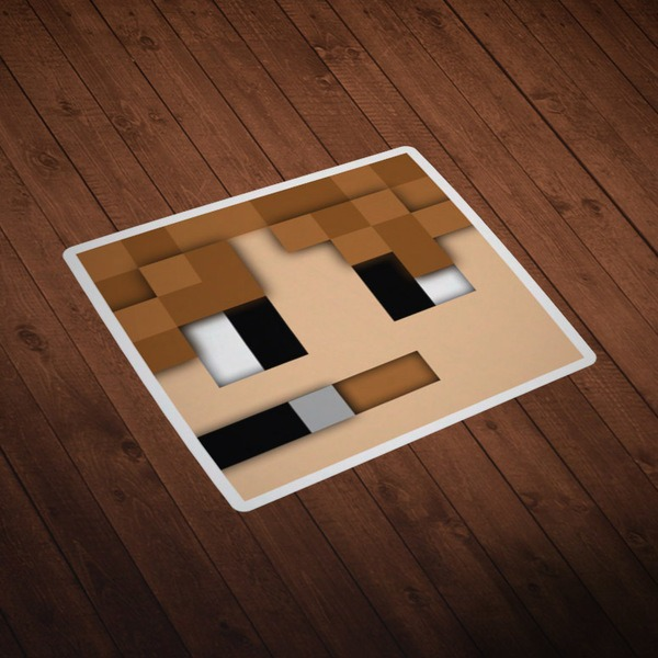 Vinilos Decorativos: Skin cabeza Minecraft 5