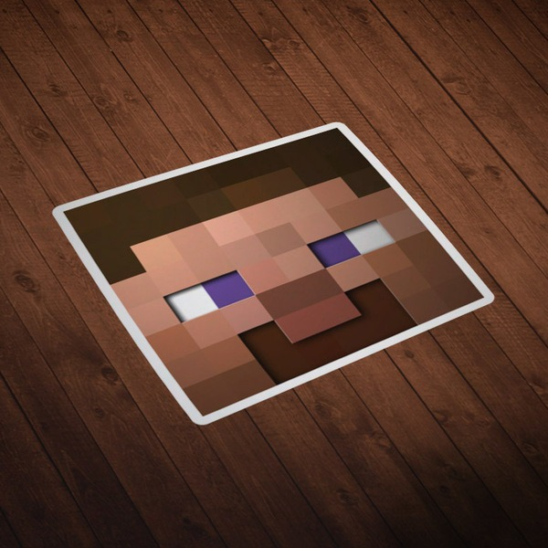Vinilos Decorativos: Skin cabeza Minecraft 6