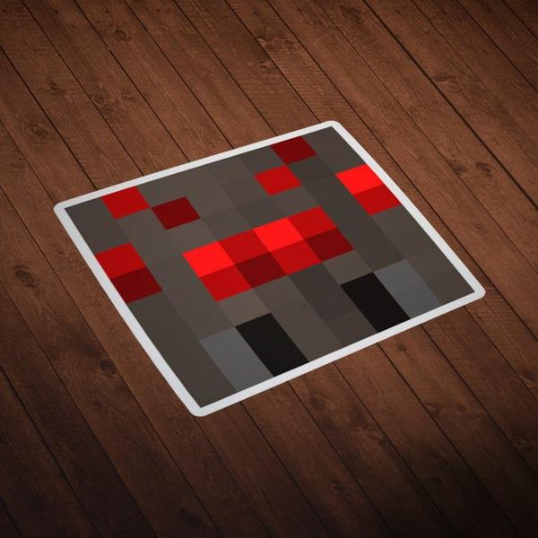 Vinilos Decorativos: Skin cabeza Minecraft 8