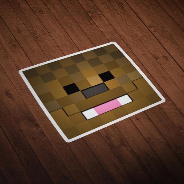 Vinilos Decorativos: Skin cabeza Minecraft 9