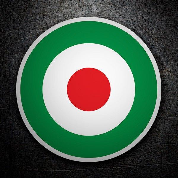 Pegatinas: Círculo bandera de Italia