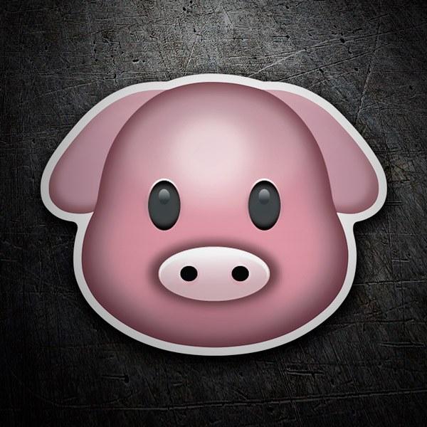 Pegatinas: Cara de cerdo